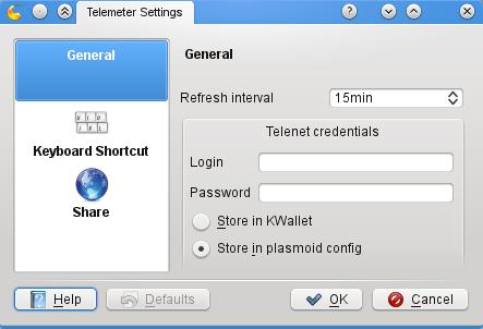 Telemeter plasmoid configuration
